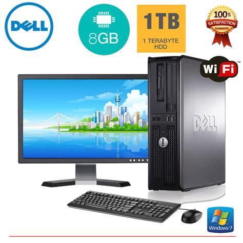 Pc Rakitan Ram 8gb dell desktop pc computer windows 10 2 duo 8gb ram 1tb hd 19 quot monitor ebay