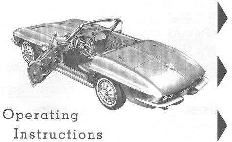 motor auto repair manual 1988 chevrolet corvette user handbook directory index chevrolet corvette 1964 chevrolet corvette 1964 corvette owners manual