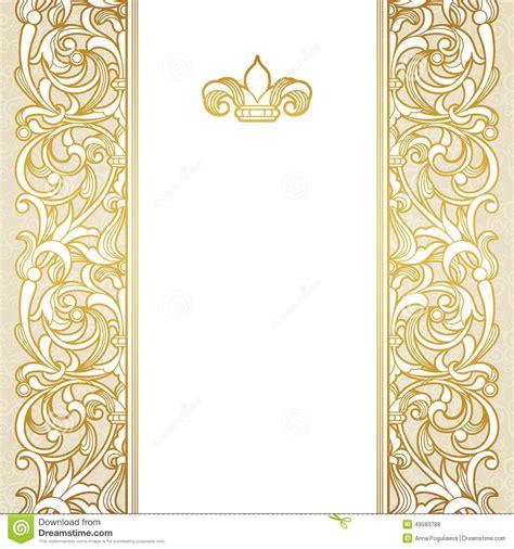 Wedding Vintage Border Design by Vector Floral Border In Style Stock Vector