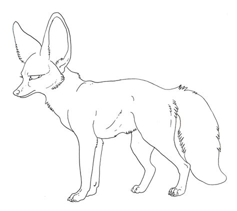 coloring pages fennec fox free lineart bat eared fox by misterasphodel on deviantart