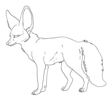 free lineart bat eared fox by misterasphodel on deviantart