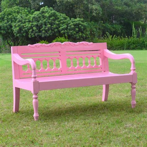 kids outdoor bench jazty kids outdoor painted pink bench at hayneedle