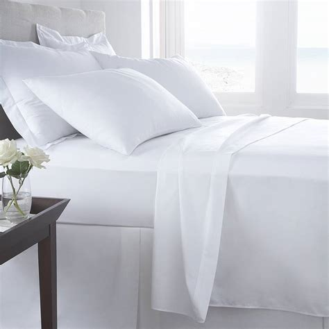 Bed Linen Vermont White Organic Cotton 200 Tc Percale Bed Linen By