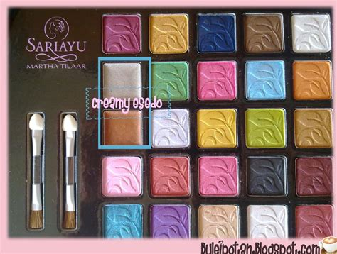 Eyeshadow Sariayu Coklat product review sariayu 25th anniversary palette fotd