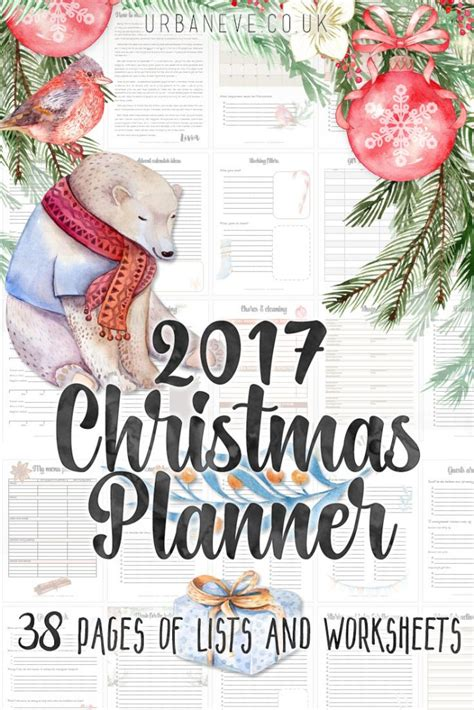 printable christmas planner for 2017 freebie urban eve