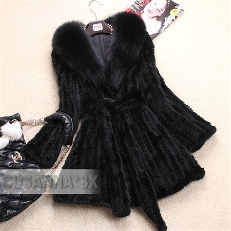 mink knitted jackets mink fur coat with fox collar fur jacket s mink