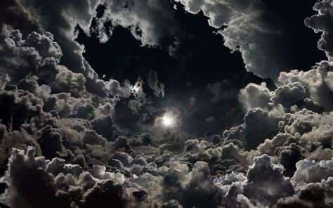 xfce wallpaper black and white clouds wallpaper www opendesktop org