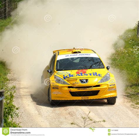 peugeot 207 rally peugeot 207 rally car editorial image image 14118890