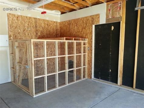 dog kennel in garage doggy run inside garage with dog door to go inside or