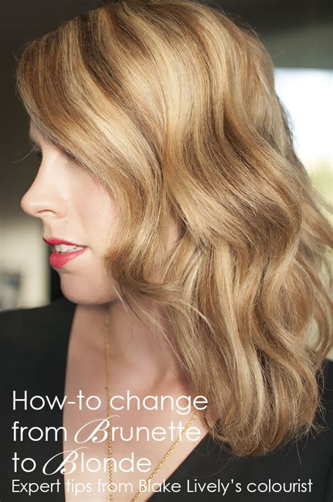 pictures of long beunettes gone blonde how to change your hair colour from brunette to blonde