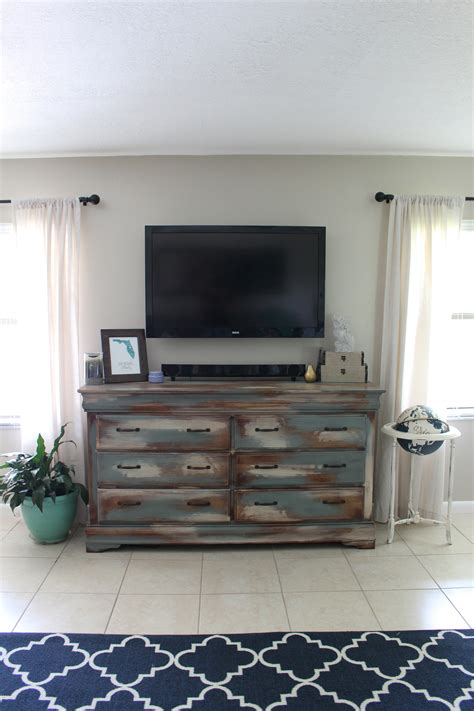How To Turn Dresser Into Entertainment Center by Home Project Dresser Turned Into An Entertainment