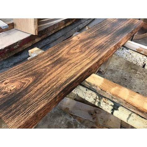 fensterbank massivholz eichenbohle geflammt ge 246 lt baumkante altholz stil