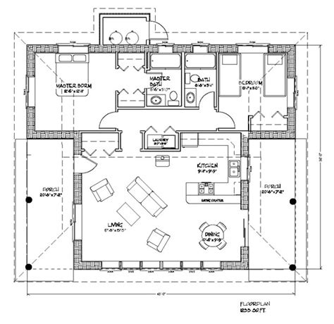 concrete block building plans casa del sol plan