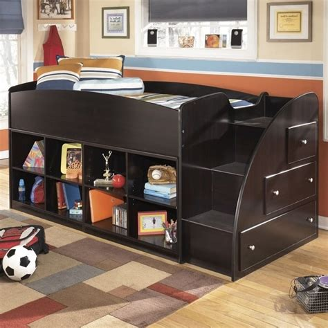 ashley embrace loft bed ashley embrace 8 cubby 3 drawer wood twin right loft bed
