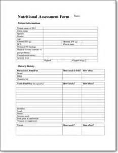 nutritional assessment form lafebervet