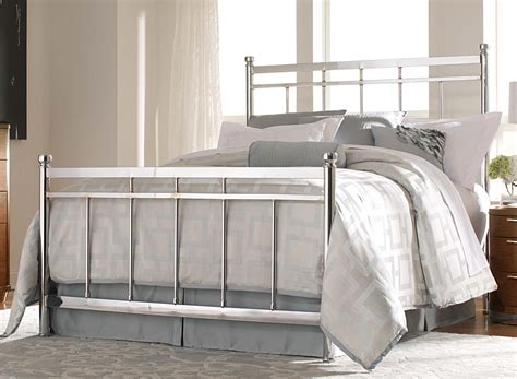 zelda bed set homelegance zelda chrome bed set chrome warm cherry 2863