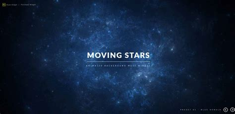 muse themes video background moving stars animated background muse widget by evunk
