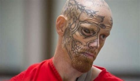 terrifying criminal with a tattooed eyeball weird