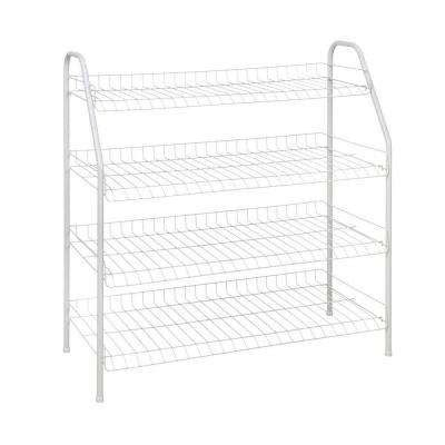 white wire rack shelving closetmaid shoe storage closet storage organization