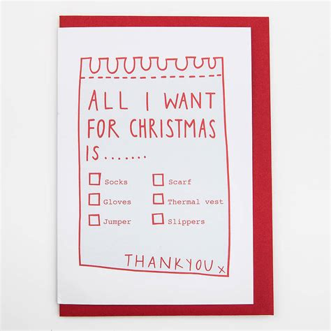 All I Want For It by All I Want For Card By Alison Hardcastle
