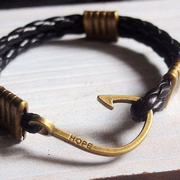 Fish Leather Bracelet best nautical fish hook bracelet products on wanelo