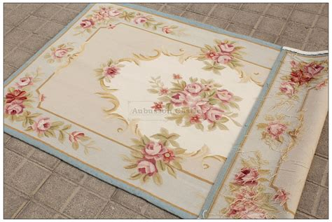 3x5 pastel blue ivory aubusson area rug shabby pink