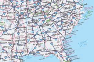 Highway Road Map Of United States by Image Gallery Highway Map Eastern Us