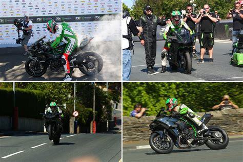 Motorradvermietung Isle Of Man by Kawasaki H2r Geschwindigkeitsrekord Isle Of Man Motorrad