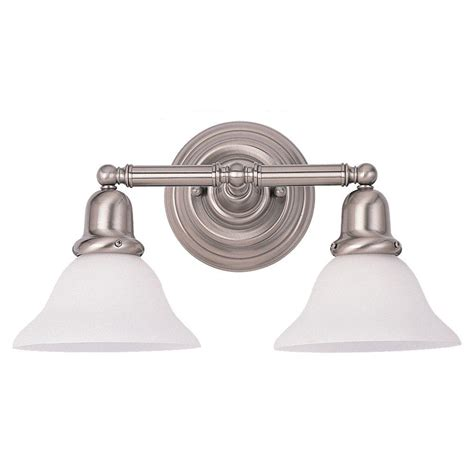 2 Light Vanity Fixture Sea Gull Lighting Sussex 2 Light Brushed Nickel Vanity Fixture 44061 962 The Home Depot
