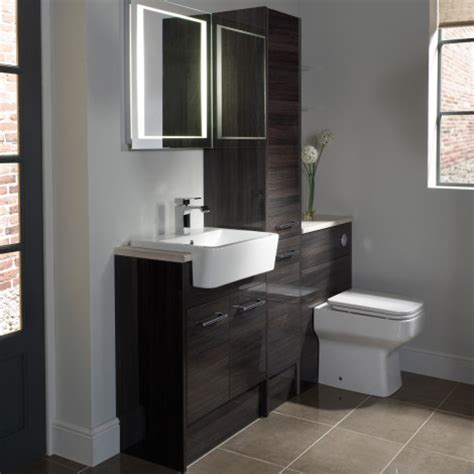 Bathroom Ideas Contemporary by Vetro Cinder Fitted Bathroom Furniture Roper Rhodes