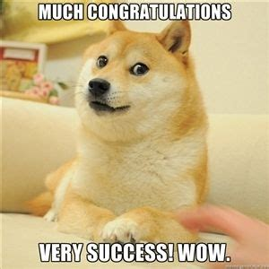 Congratulations Meme - much congratulations very success wow so doge quotes