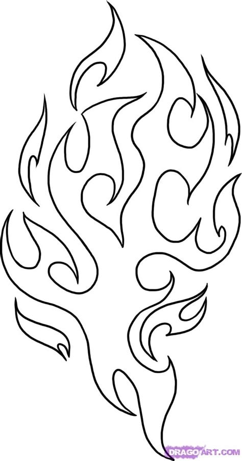 how to draw tribal tattoos step by step how to draw tribal flames step by step tattoos pop