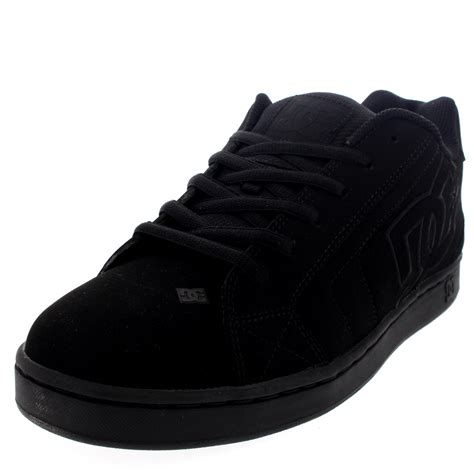 mens dc shoes net low top lace up skate shoes suede casual