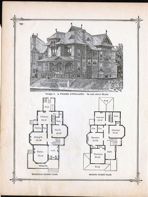 victorian era house plans gothic frame dwelling vintage house plans 1881 antique