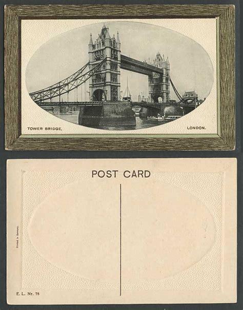 thames river boat london bridge london old embossed postcard tower bridge thames river