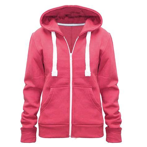 Hoodie Zipper Jumper Sweater Lowell new womens plus size plain zip hoodie hoody fleece jumper jacket 8 28 ebay