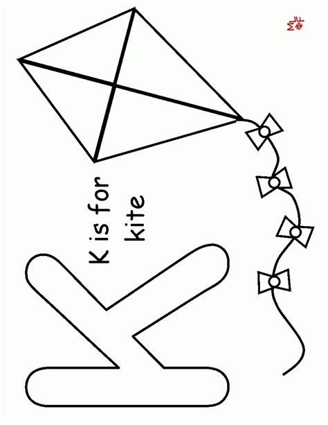 kite coloring pages preschool preschool kite az coloring pages az coloring pages