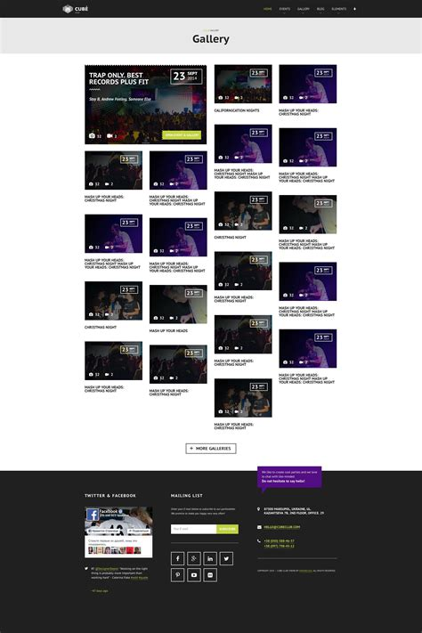 theme nights list club cube v 2 responsive html5 theme for night club by