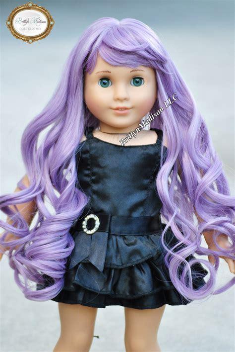 Doll Premium smoked lavender premium doll wig size 10 11 fits