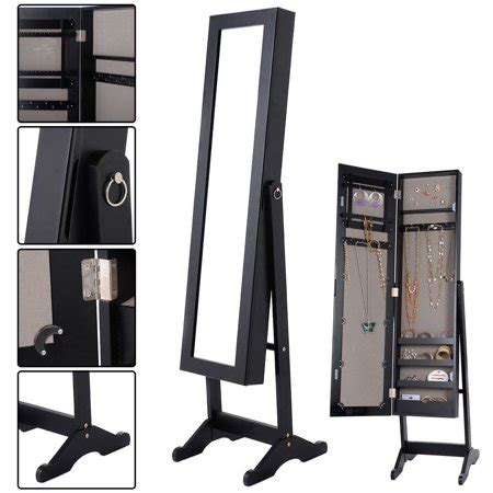 mirrored jewelry cabinet armoire costway mirrored jewelry cabinet armoire mirror organizer