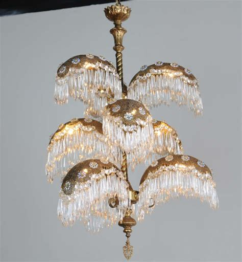 Palm Tree Chandeliers Italian Deco 9 Light Palm Tree Chandelier 1940 S At