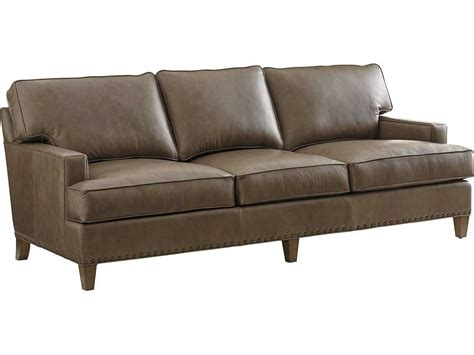 tommy bahama leather sofa tommy bahama cypress point hughes leather sofa quick ship