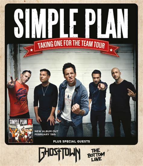 simple plan official website taking one for the team simple plan taking one for the team tour 2016 mlk