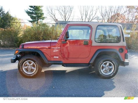 chili pepper pearlcoat 1999 jeep wrangler sport 4x4 exterior photo 39895403 gtcarlot