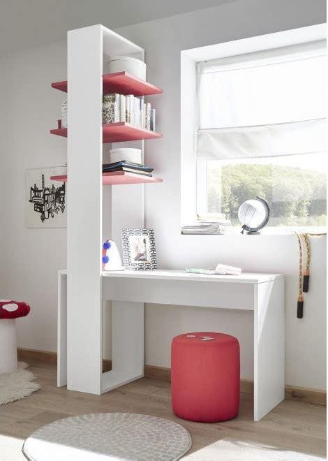 bureau et etagere bureau 233 tag 232 re design coloris blanc et