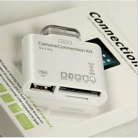 Kabel Data Otg Connect Kit 5 in 1 usb otg card reader connection kit 30 pin for apple