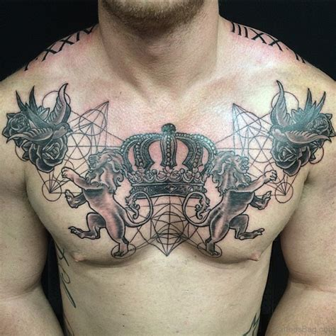 Tattoo Chest Crown | 72 graceful crown tattoos on chest