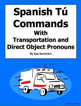 Commands With Pronouns Worksheet