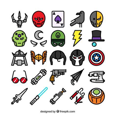 imagenes superheroes vectores colecci 243 n de los iconos de superh 233 roes descargar
