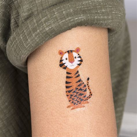 Tattoo Temporary London | 2 sheets of colourful creatures temporary tattoos rex